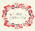 Blossom into mothers day postcard vintage vector image vector image