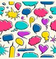 bright speech bubble seamless pattern vector image vector image