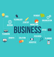 business flat style design concept vector image