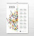 Calendar new year colorful geometric design vector image