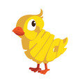 chicken cartoon animal in letters vector image vector image