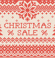 Christmas sale Scandinavian or russian style vector image vector image