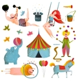 Circus Carnival Show Clip Art Vintage Collection vector image vector image
