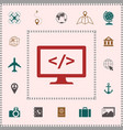 coding symbol icon elements for your design vector image
