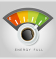 coffee energy concept realistic vector image vector image