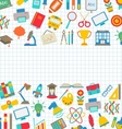 Collection of School Colorful Icons Wallpaper for vector image vector image