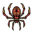 colorful spider tattoo template vector image vector image