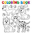 coloring book dog theme 5 vector image