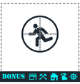 Crosshair icon flat vector image vector image