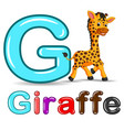 cute giraffe and alphabet vector image vector image