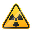 danger radioactive sign isolated on white vector image vector image