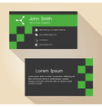 dark gray and green simple business card design vector image vector image