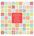 different retro seamless patterns in color vector image