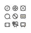 different tech equipment icons set vector image vector image