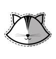face cat feline animal dot line shadow vector image vector image