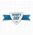 Fathers Day paper Label with greeting Ribbon vector image vector image