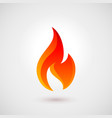 fire icon vector image vector image