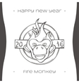 Fire Monkey Four Black vector image vector image