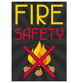 fire safety firefighting poster do not light vector image vector image