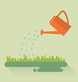 Flat watering can vector image vector image