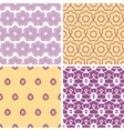 Four abstract purple and gold oriental motives
