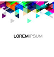 geometric template gradient and modern overlapping vector image vector image