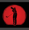 golf player golfer action cartoon sport graphic vector image vector image