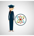 graduate student girl physics vector image