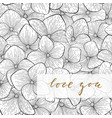 i love you hand drawn gold brush pen lettering on vector image