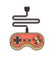 joystick isolated retro gamepad videogame vector image