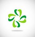leaf green ecology logo vector image