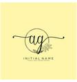 letter initial ag beauty monogram and elegant