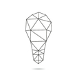 Lightbulb abstract isolated vector image
