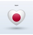 Love Japan symbol Heart flag icon vector image vector image