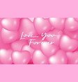 love you forever design for greeting card vector image vector image