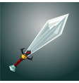magic sword antique weapon cartoon vector image vector image