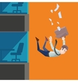 Man in office wear falls from a building vector image