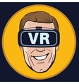 Man with Virtual reality glasses icon vector image vector image
