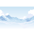 Mountains and clouds vector image vector image