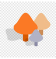 mushrooms isometric icon vector image vector image