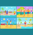 nature in summer collection vector image