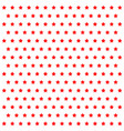 pattern red stars on white background vector image vector image