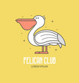 pelican beach club logo vector image
