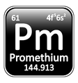 Periodic table element promethium icon vector image vector image