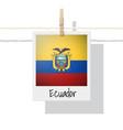 photo of ecuador flag vector image