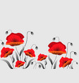 poppies in the background vector image