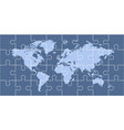puzzle world map vector image vector image