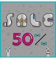Sale Fifty percents vector image vector image