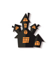 scary halloween ghost house or castle cut out vector image vector image