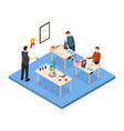 school education concept 3d isometric view vector image vector image